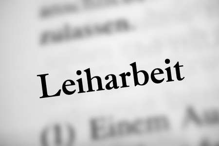 Temporary work is the German word of temporary work