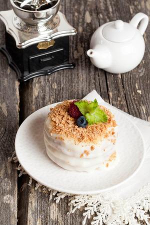 napoleon: Napoleon cake, close up, vertical