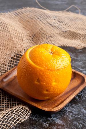halloween orange, close up, vertical Stock Photo