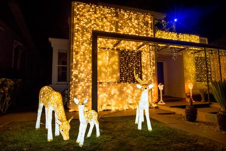Prachtige Outdoor Kerstverlichting Ieder Jaar Versieren Huizen Op