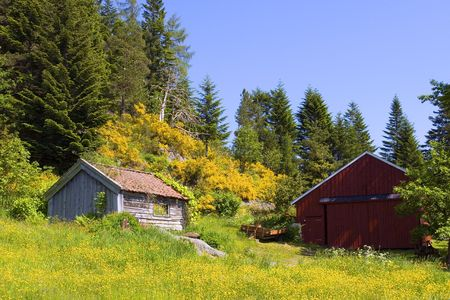 Old hut and barn in the mountains Stock Photo - 998543