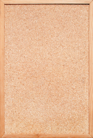 blank corkboard  bulletin board with a wooden frame