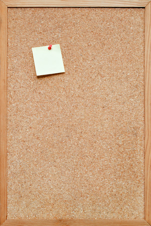 blank cork board  bulletin board with a wooden frame photo