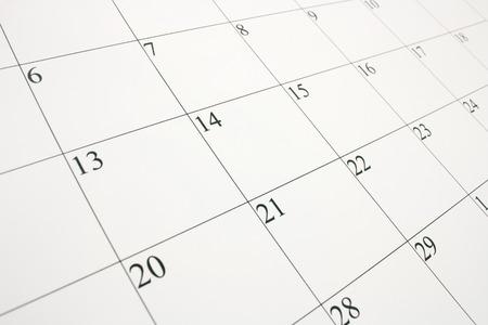 Nahaufnahme von einer Kalenderseite Standard-Bild - 39327698