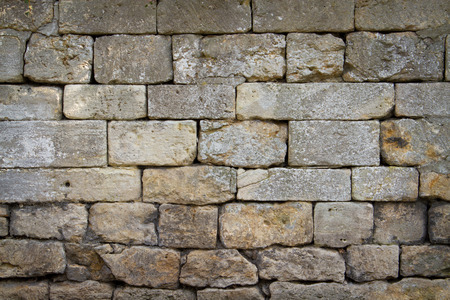 cotswold: close up of a cotswold stone wall in rural england Stock Photo