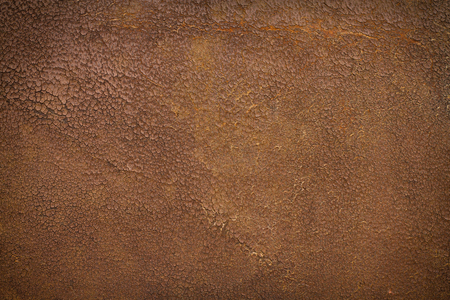 leather background: Very old and weathered brown antique leather with a vignette