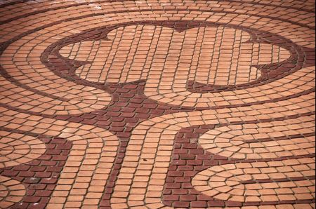 floral patterned brick outdoor flooring