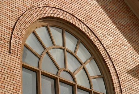 arched window with grills