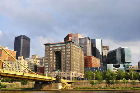 bridge and buildings in the city of Pittsburgh