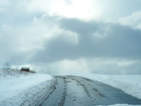 beautiful scenic road through Pennsylvania farmland Imagens
