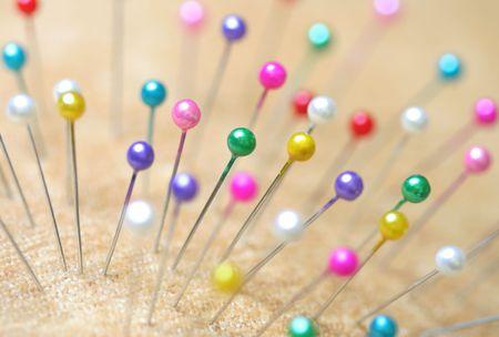 Close-up of pin photo