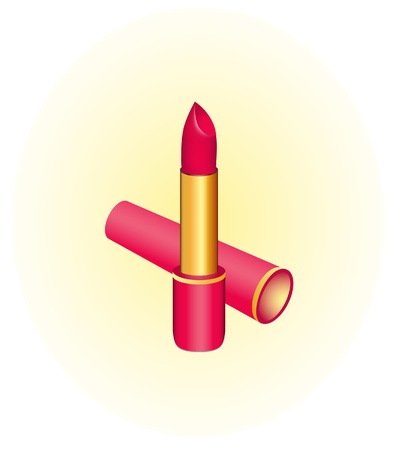 toiletry: Vector illustration of  red lipsticks