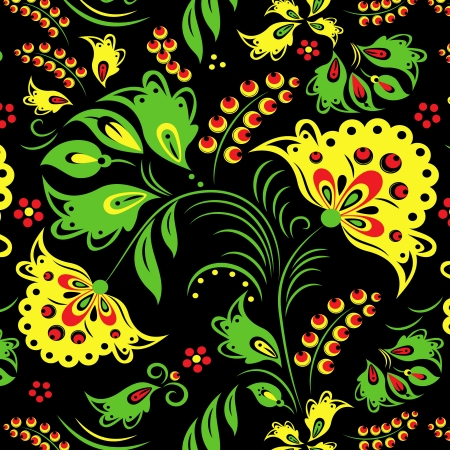 Illustration of traditional Russian ornament Vector