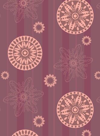 Illustration of retro seamless background