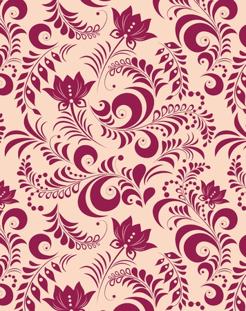 design floral: Illustration of abstract flower on pink background.  Illustration