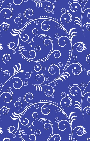 ornate swirls: Illustration of spiral abstract seamless background