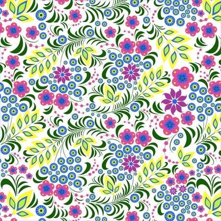 Ilustración de flores de colores sobre fondo blanco.