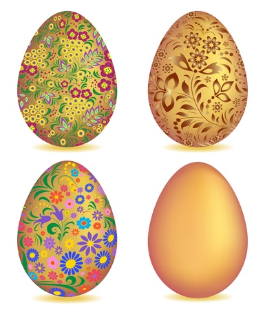 Illustration of  colorful easter egg isolated on white background  Vector