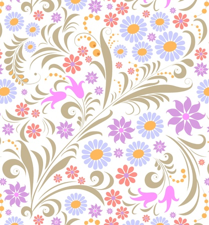 leafs: Illustration of  colorful flower on white background.  Illustration