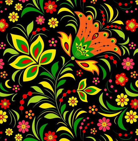 Illustration of  colorful flower on black background. Stock Vector - 12077551