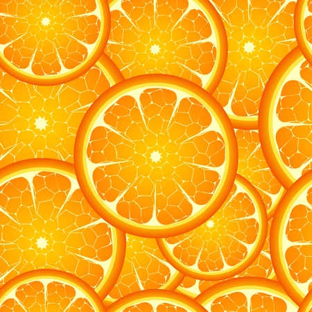 oranges: Illustration of  seamless orange  background  Illustration