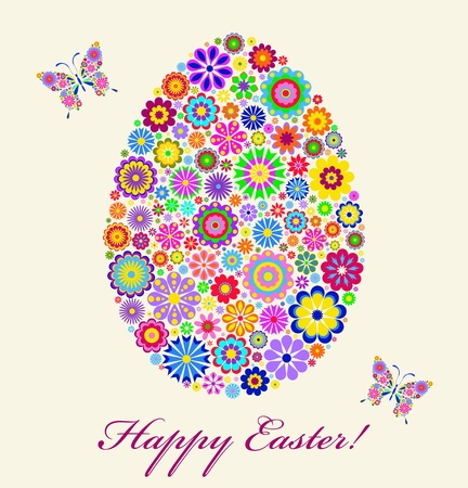 multicoloured: Illustration of  colorful easter egg