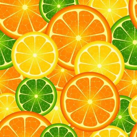 tangerines: Illustration of  seamless orange  background  Illustration
