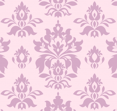 Illustration of damask seamless pattern Vector