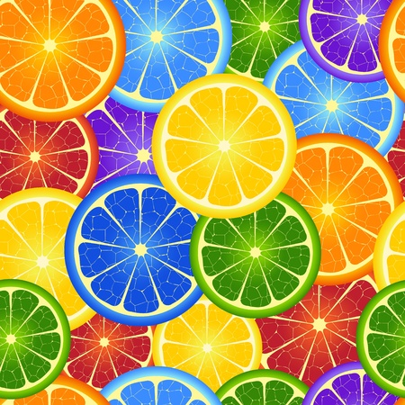 orange slice: Illustration of  seamless  rainbow orange  background Illustration