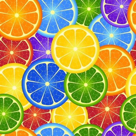 naranjas: Ilustraci�n de tubos sin costura del arco iris de fondo de color naranja