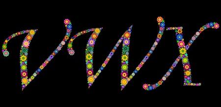 Illustration of letters on black background Stock Vector - 12492876