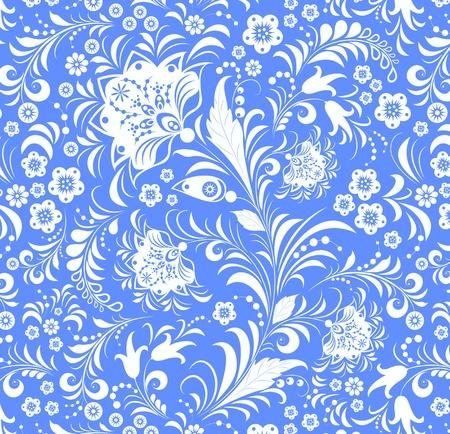 Illustration of flower seamless background Vector