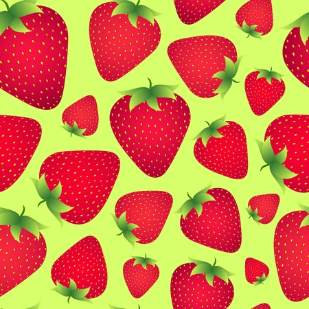 Illustration of  seamless strawberries background  Vector