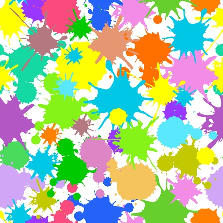 textile image: Illustration of  seamless with bright  blots Illustration