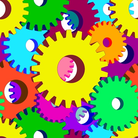 Illustration of seamless  of  3D gears.Vector background.   Vector