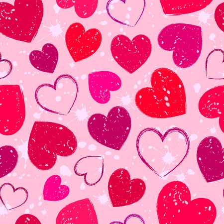 love wallpaper: Ilustraci�n de tubos sin costura con un coraz�n abstracto del grunge