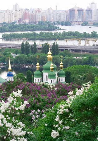 Vydubitskiy monastery it�s a monastery complex situated on the picturesque banks of Dnieper in the Vydubich tract.  photo