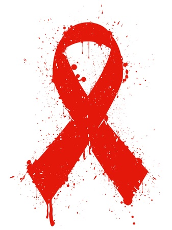 aids: Illustration of aids sign isolated on white background