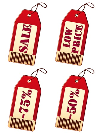 Illustration of price labels isolated on white background Stock Vector - 13693490