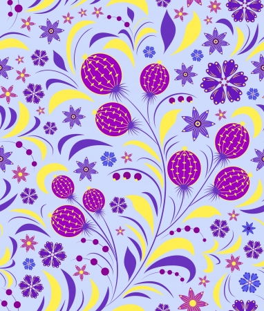 seamless flowers pattern. Floral background Vector