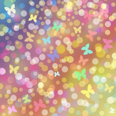 pink butterfly: Illustration of colorful background with butterflies
