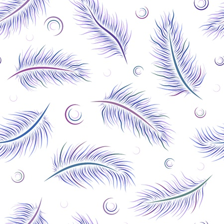 illustration of seamless pattern with feathers  Stock Vector - 15042046