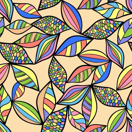 Illustration of abstract seamless on pastel background Illustration