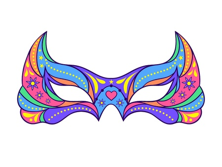 Illustration of carnival mask on white background. Vector