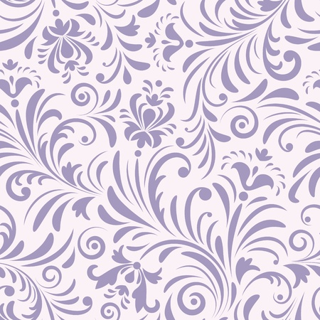 flower pattern: illustration of seamless pattern with abstract flowers.Floral background
