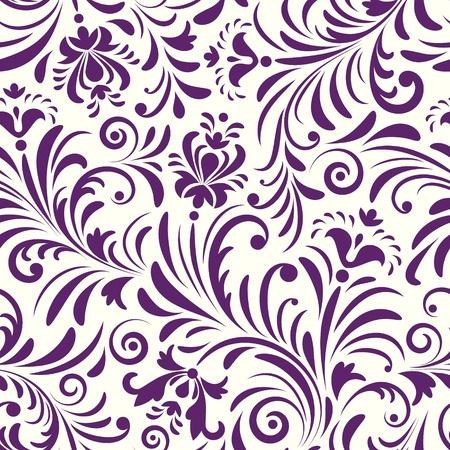 floral vector: Ilustraci�n vectorial de patr�n sin fisuras con flores resumen de antecedentes florales Vectores