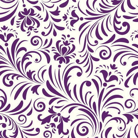 floral fabric: Vector illustration of seamless pattern with abstract flowers Floral background