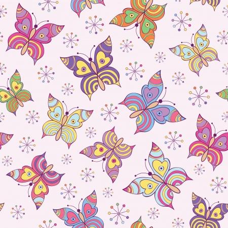 flowery: Ilustraci�n vectorial de mariposas sin fisuras patr�n de colores witn