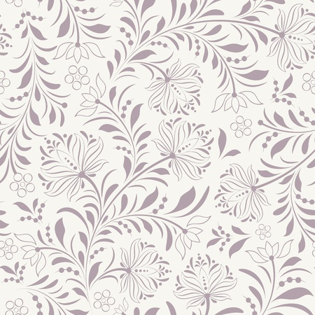 floral ornaments: illustration of seamless pattern with abstract flowers.Floral background