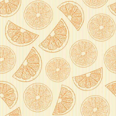Vector Illustration of seamless pattern with absctract oranges  Vector
